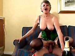 Kinky grannies licked and fucked